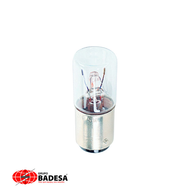 Lámpara tipo bulbo Torreta para elemento luminoso 5W, 42 mm 230 VCA/CD